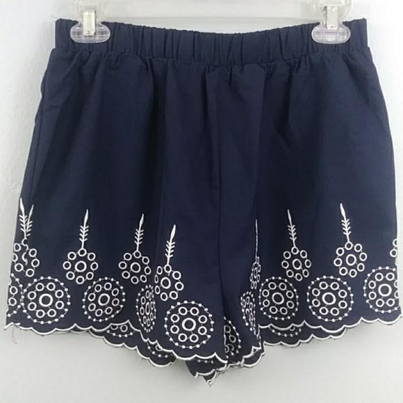8574ecc04d01 SHEIN Shorts | Sz Lg Scalloped Edge Flowy Adorable | Poshmark